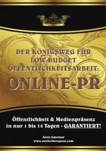 Der Königsweg für Low Budget Öffentlichkeitsarbeit: ONLINE PR-Kapitel 10