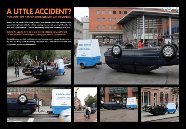 Ein kleiner Unfall: Fall für den Versicherungsmakler bzw. Versicherung