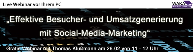 Effektive Umsatzgenerierung mit Social-Media-Marketing – Gratis Webinar