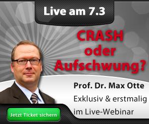 Kartenkontingent für Finanzberater – Prof. Max Otte Webinar am 7.3