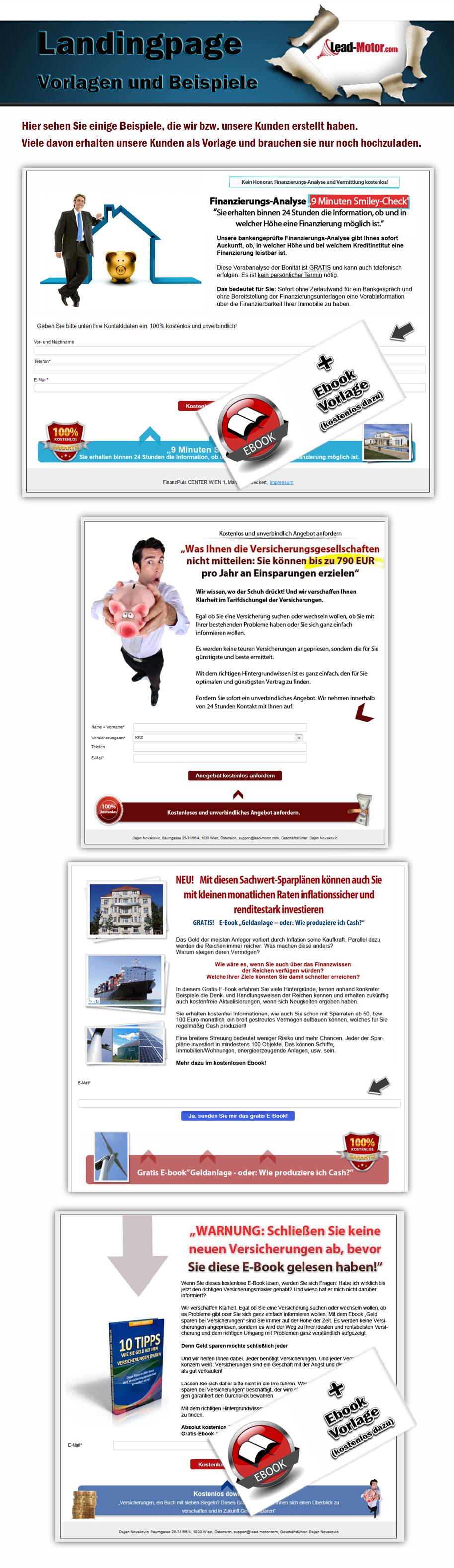 Landingpage Beispiele und Vorlagen für Finanzdienstleister zur Leadgenerierung